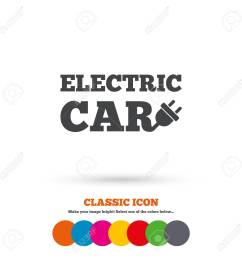 electric car sign icon electric vehicle transport symbol classic flat icon colored circles [ 1300 x 1300 Pixel ]