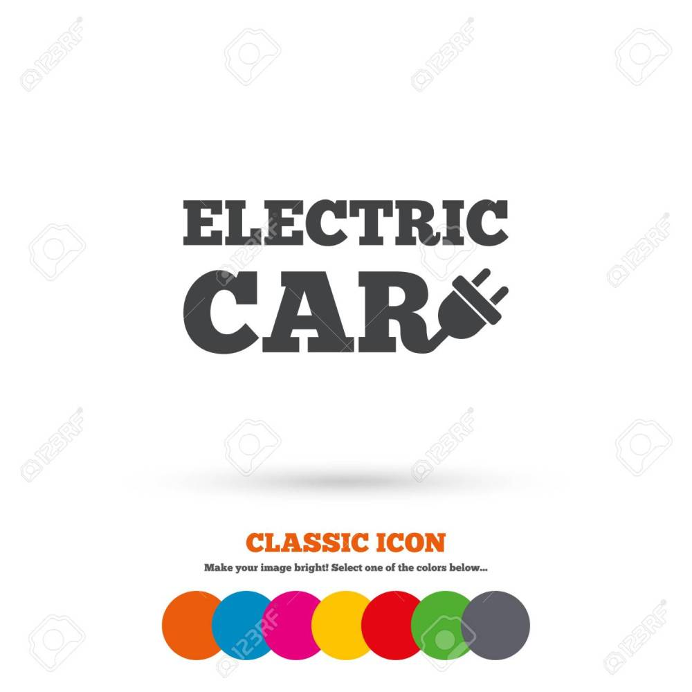 medium resolution of electric car sign icon electric vehicle transport symbol classic flat icon colored circles