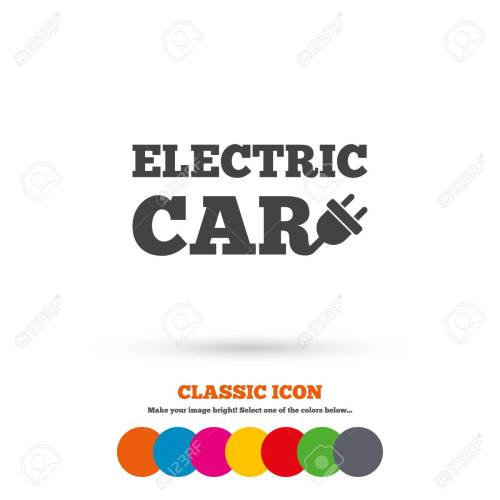 small resolution of electric car sign icon electric vehicle transport symbol classic flat icon colored circles