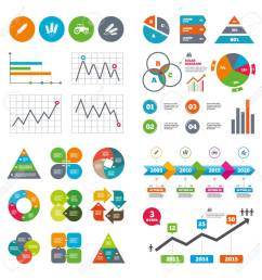 business data pie charts graphs agricultural icons wheat corn or gluten free signs symbols [ 1300 x 1300 Pixel ]