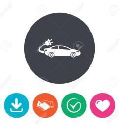 electric car sign icon sedan saloon symbol electric vehicle transport download arrow  [ 1300 x 1300 Pixel ]