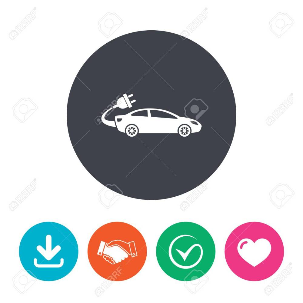 medium resolution of electric car sign icon sedan saloon symbol electric vehicle transport download arrow