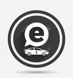 electric car sign icon sedan saloon symbol electric vehicle transport circle flat button [ 1300 x 1300 Pixel ]