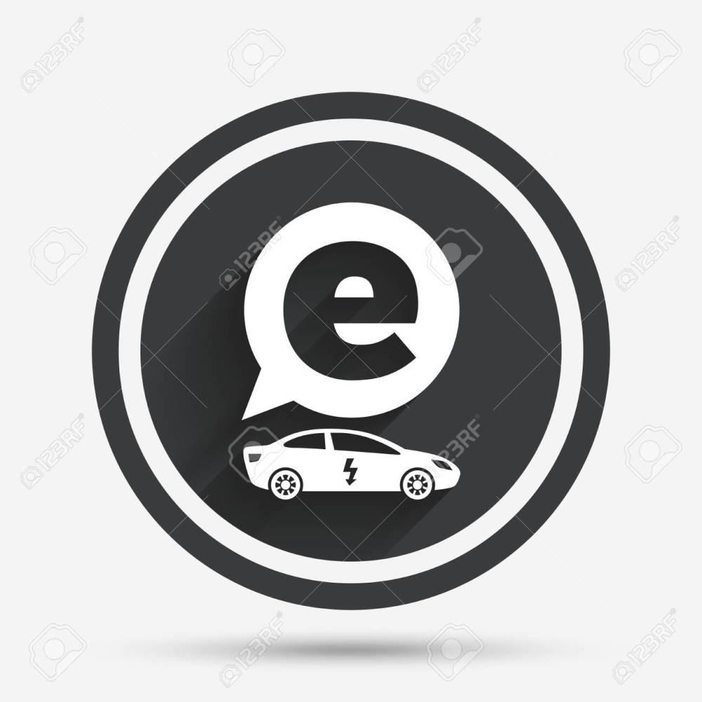 medium resolution of electric car sign icon sedan saloon symbol electric vehicle transport circle flat button