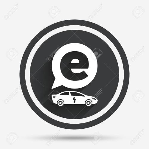 small resolution of electric car sign icon sedan saloon symbol electric vehicle transport circle flat button
