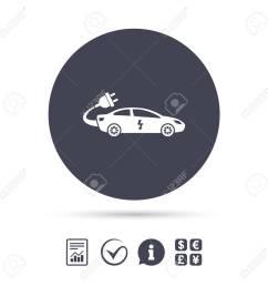 electric car sign icon sedan saloon symbol electric vehicle transport report document  [ 1300 x 1300 Pixel ]