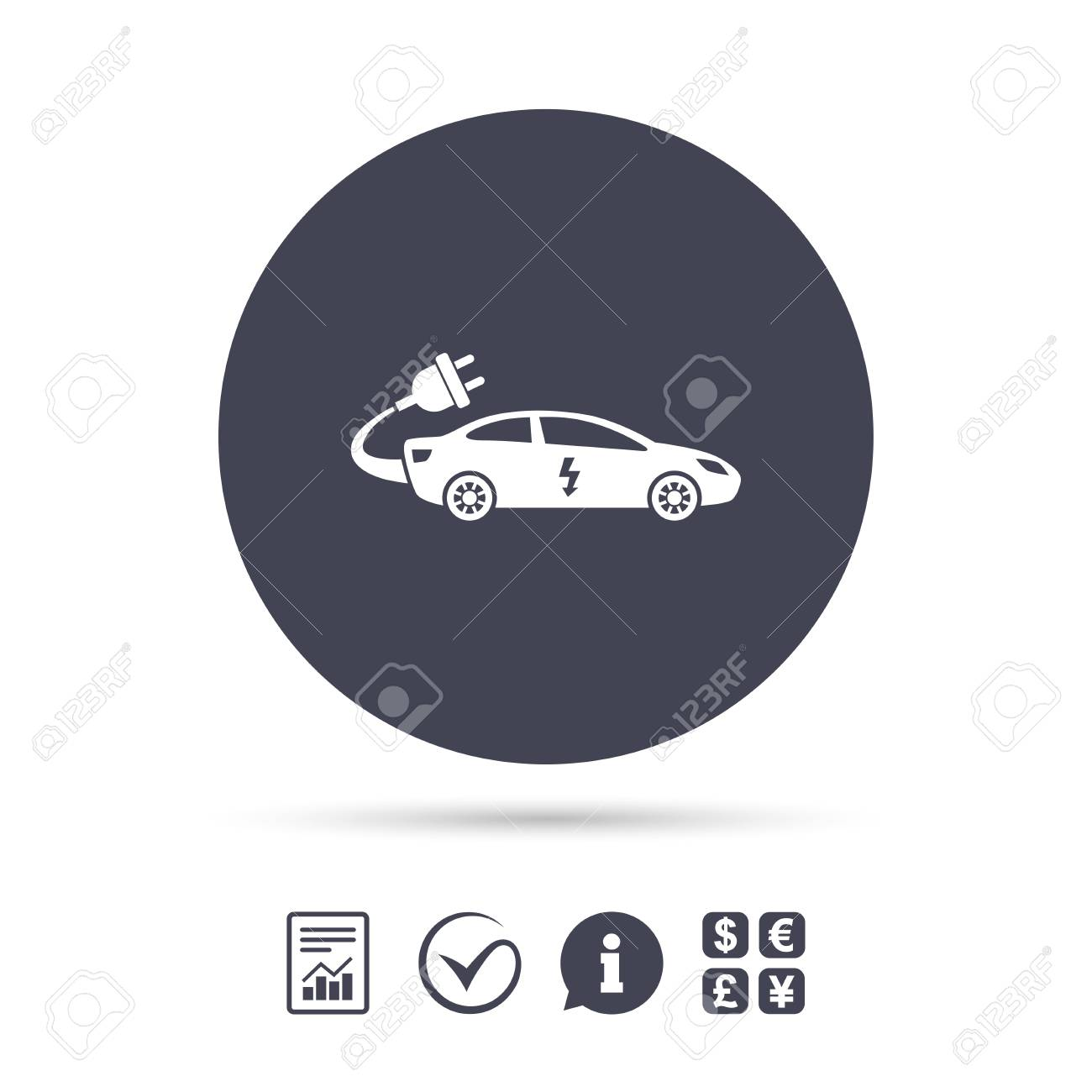 hight resolution of electric car sign icon sedan saloon symbol electric vehicle transport report document