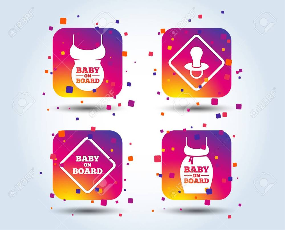 medium resolution of baby on board icons infant caution signs child pacifier nipple pregnant woman dress