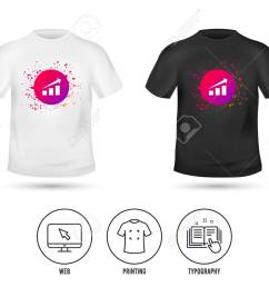 t shirt mock up template chart with arrow sign icon success diagram symbol [ 1300 x 1052 Pixel ]