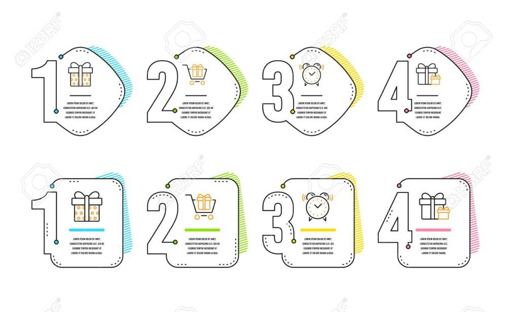 medium resolution of shopping cart gift box and alarm clock icons simple set surprise package sign