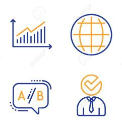graph ab testing and globe icons simple set vacancy sign presentation diagram  [ 1300 x 1051 Pixel ]