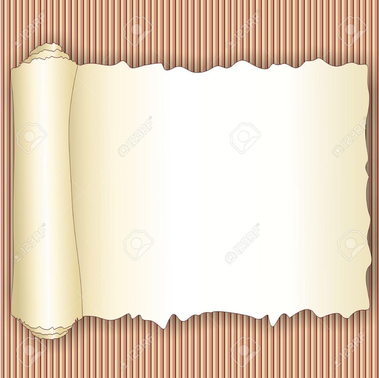 vintage torn paper roll