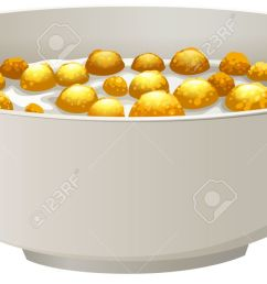 bowl of cereal in milk stock vector 41626992 [ 1300 x 669 Pixel ]