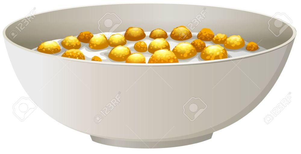 medium resolution of bowl of cereal in milk stock vector 41626992