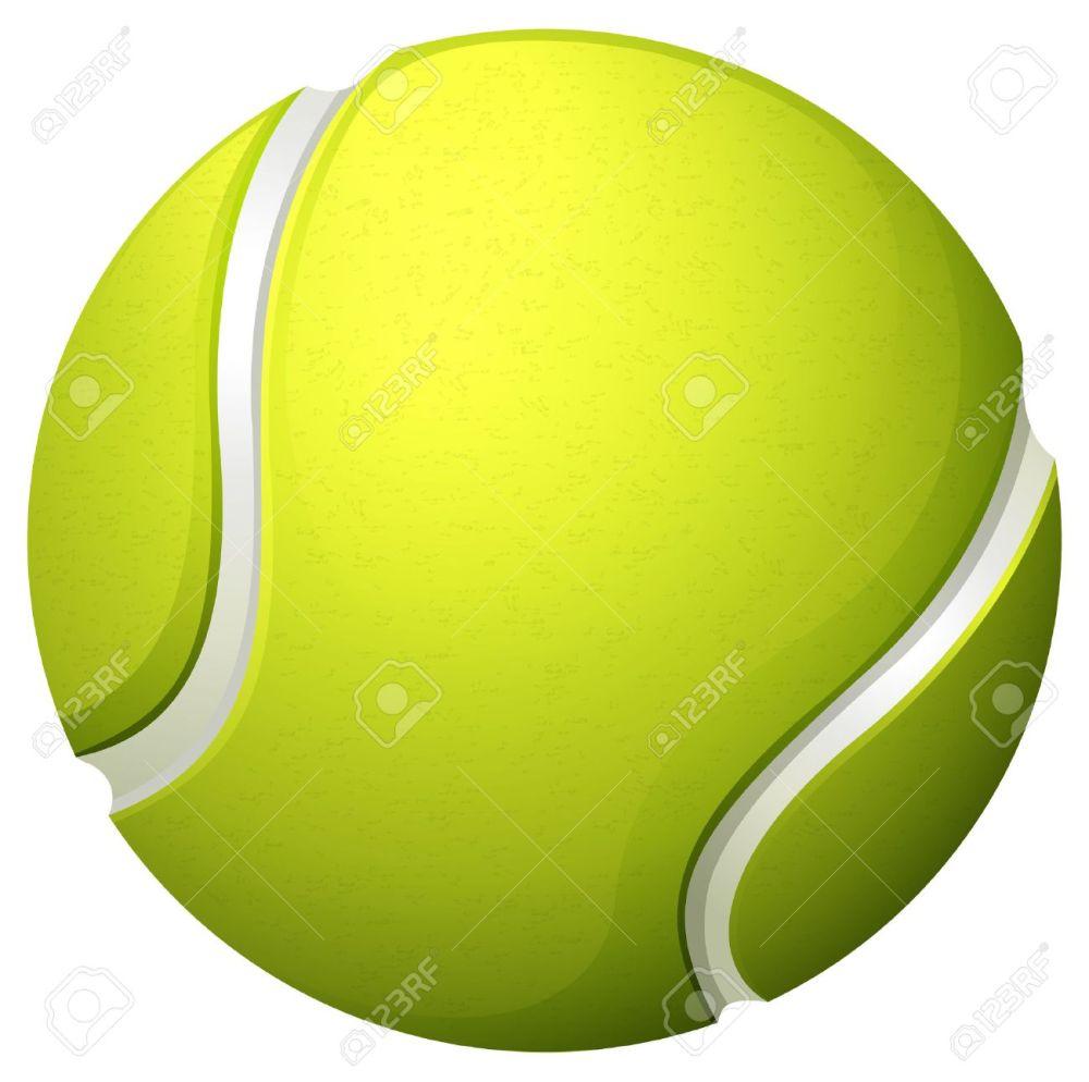 medium resolution of single light green tennis ball illustration