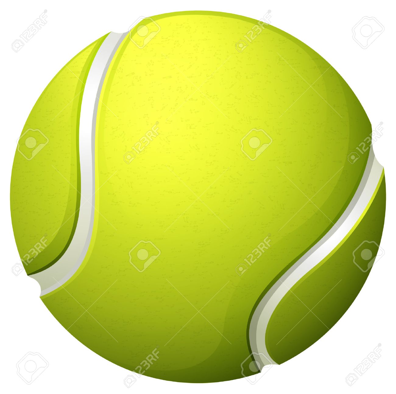 hight resolution of single light green tennis ball illustration
