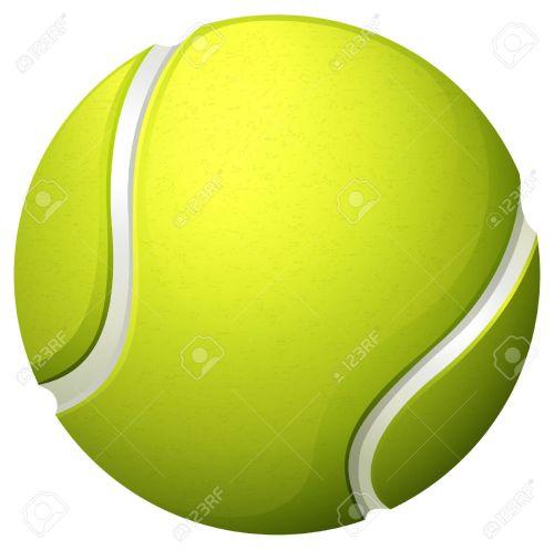 small resolution of single light green tennis ball illustration
