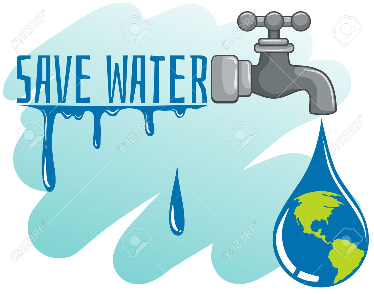 Save Water Theme With Earth And Faucet Illustration Royalty Free Cliparts Vectors And Stock Illustration Image 48319254