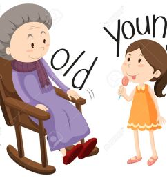 old woman and young girl illustration stock vector 49135231 [ 1300 x 1070 Pixel ]
