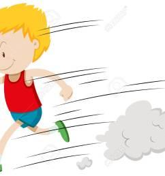 little boy running fast illustration stock vector 52037291 [ 1300 x 958 Pixel ]
