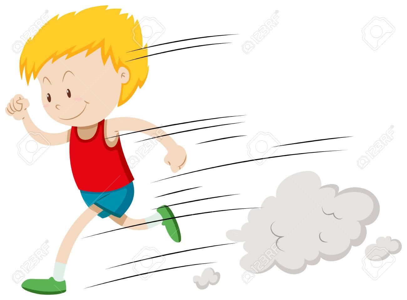 hight resolution of little boy running fast illustration stock vector 52037291