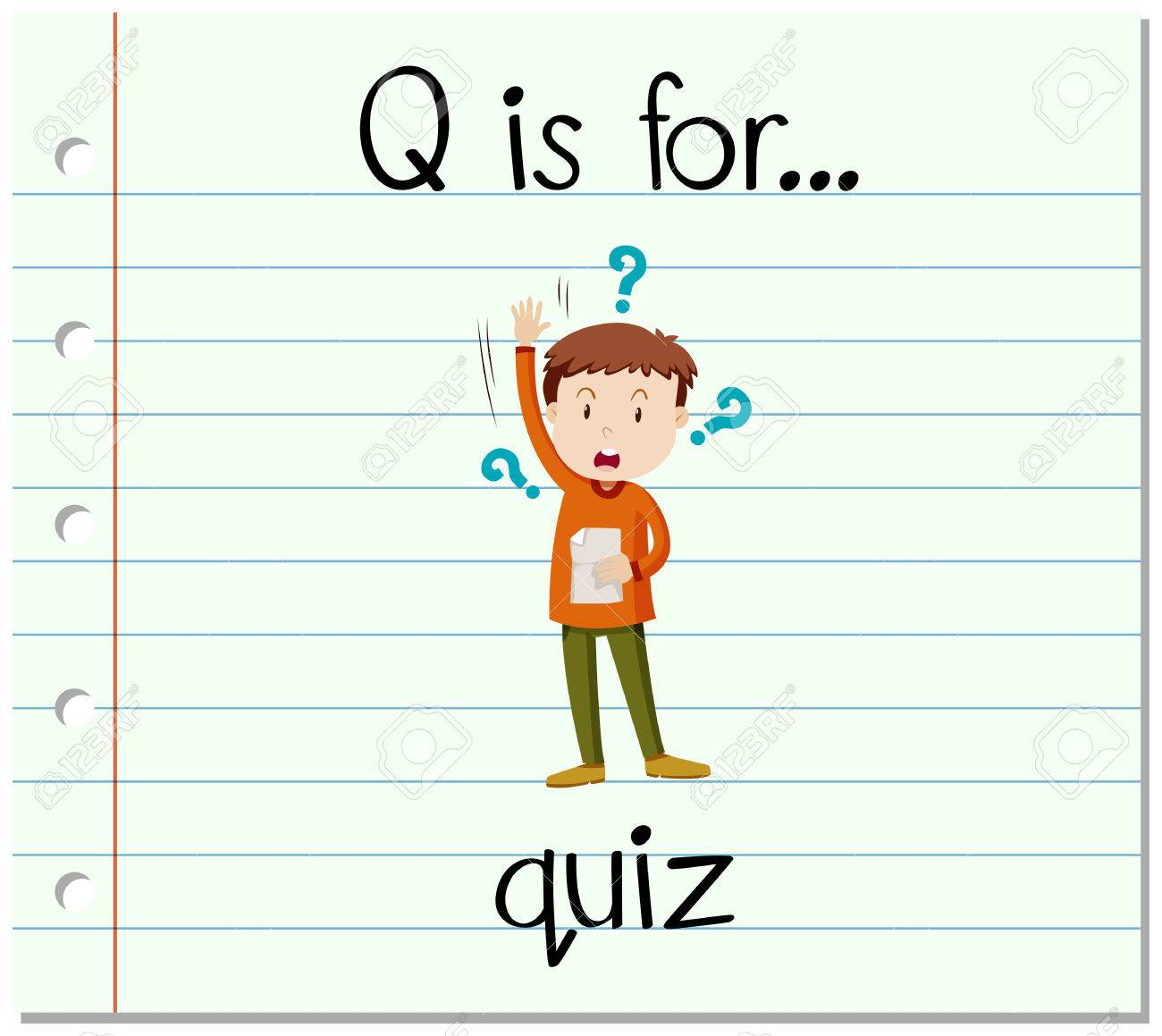 Flashcard Letter Q Is For Quiz Illustration Royalty Free Cliparts Vectors And Stock Illustration Image 57289602