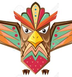 totem pole shaped of an owl illustration stock vector 58804774 [ 1300 x 813 Pixel ]