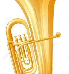 golden tuba on white background illustration stock vector 59363846 [ 797 x 1300 Pixel ]