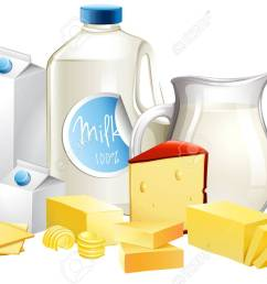 different types of dairy products illustration stock vector 68435812 [ 1300 x 892 Pixel ]