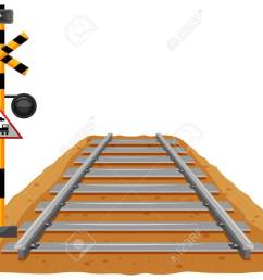 train track and light signal pole illustration stock vector 77014610 [ 1300 x 958 Pixel ]