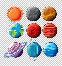 different planets in solar system on transparent background illustration stock vector 78779518 [ 1256 x 1300 Pixel ]