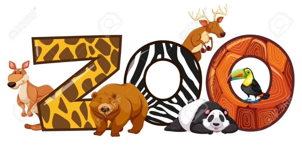 medium resolution of font design for word zoo illustration stock vector 80862520