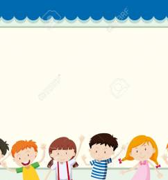 border template with children in background illustration stock vector 81697608 [ 1300 x 966 Pixel ]