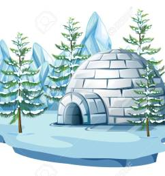 igloo at the arctic land illustration stock vector 83395682 [ 1300 x 845 Pixel ]