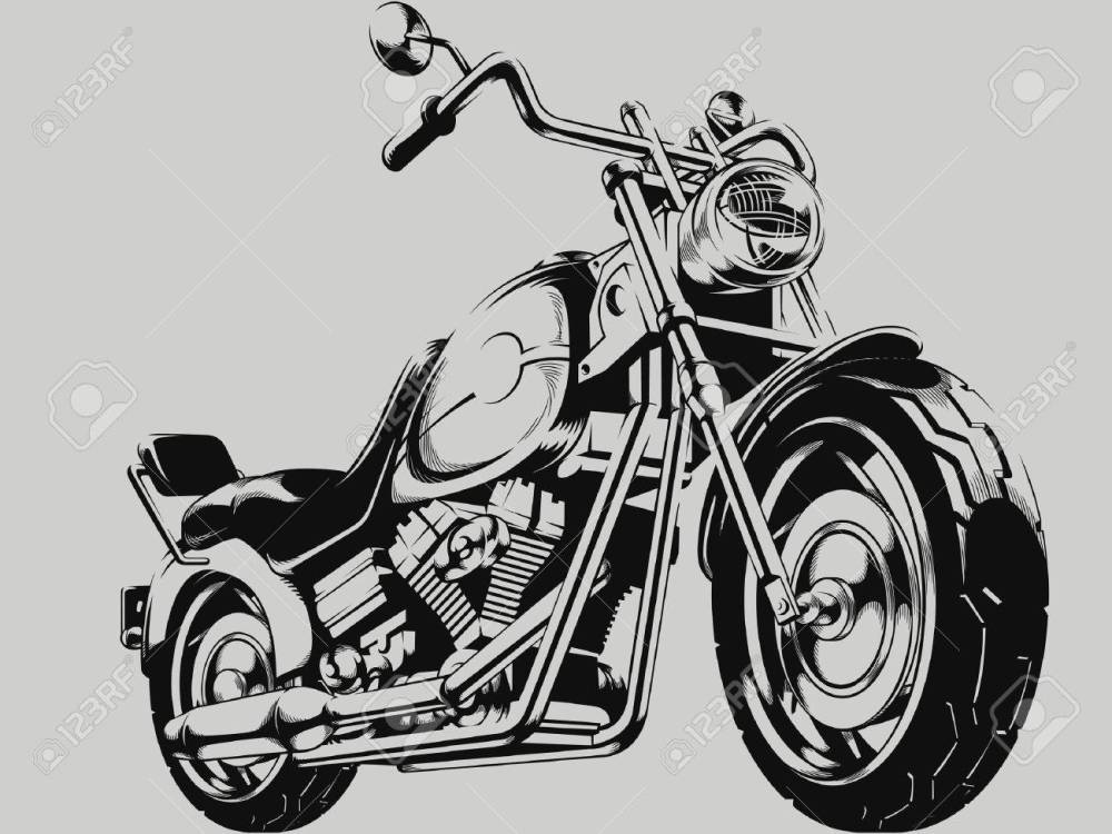 medium resolution of vintage motorcycle vector silhouette illustration