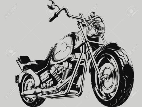 small resolution of vintage motorcycle vector silhouette illustration