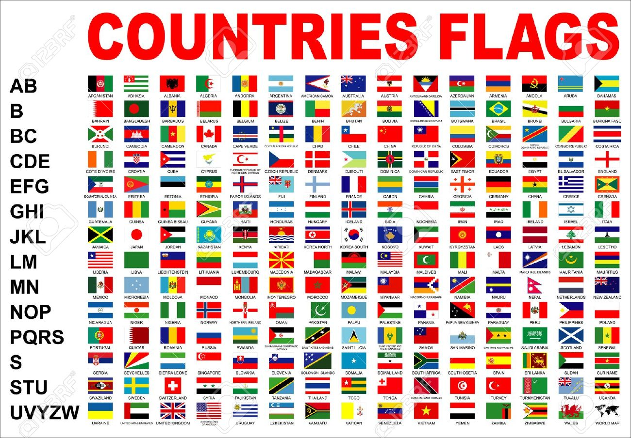Countries Flags Stock Photo, Picture And Royalty Free Image ...