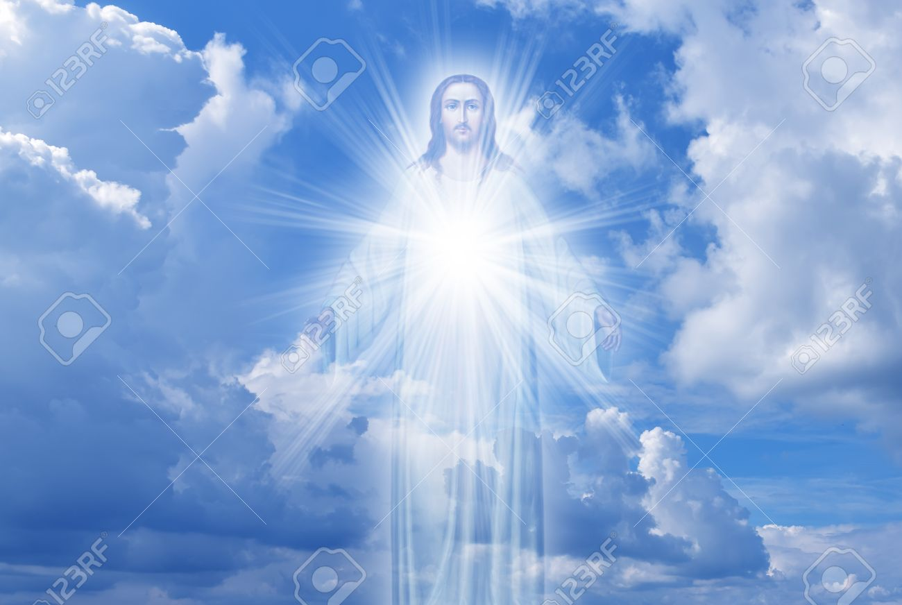 Jesus Christ In Sky With Clouds Heaven Stock Photo Picture And Royalty Free Image Image 64991516