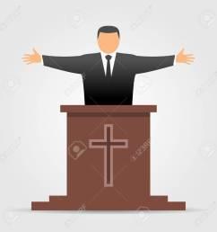 preacher icon stock vector 76960569 [ 1299 x 1300 Pixel ]