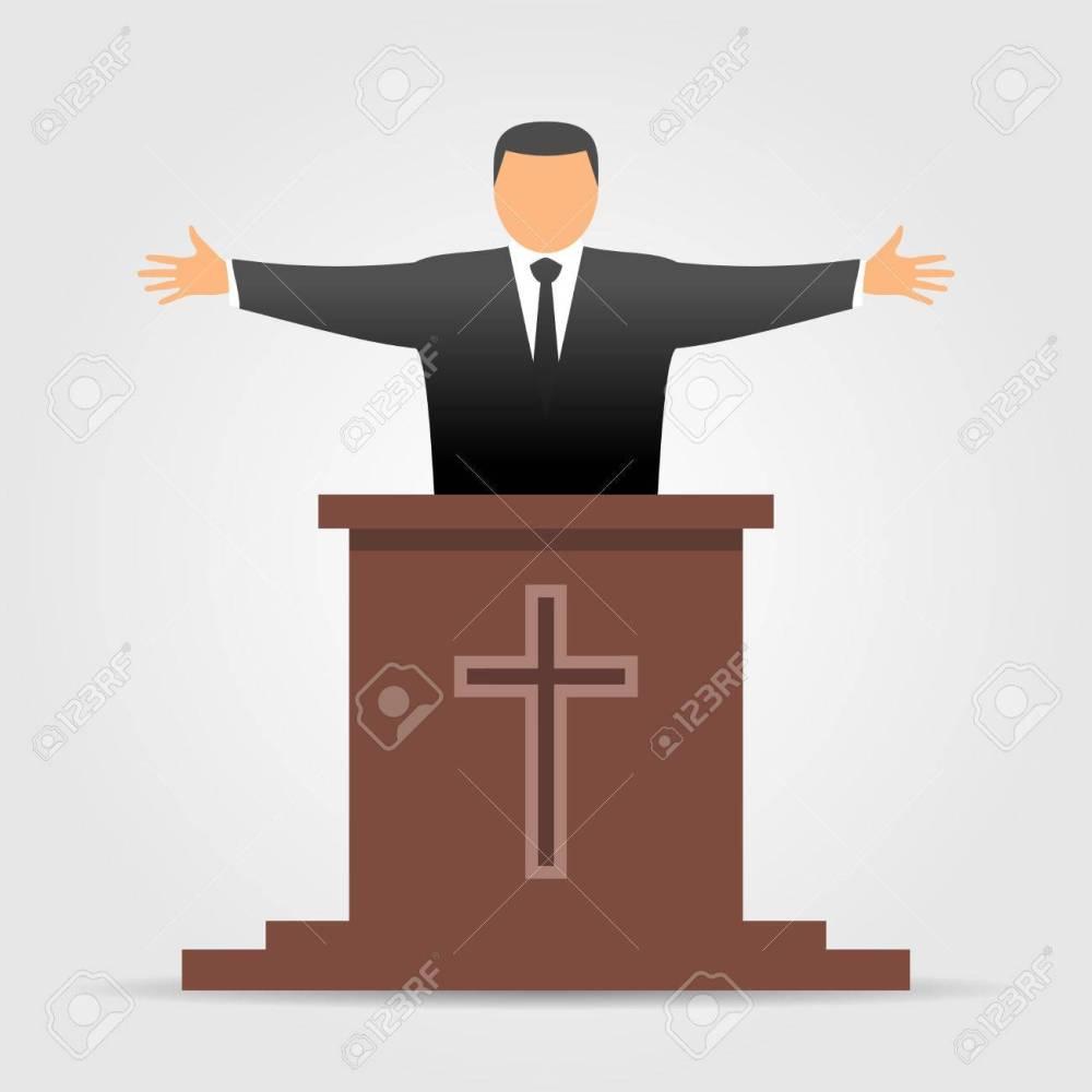 medium resolution of preacher icon stock vector 76960569