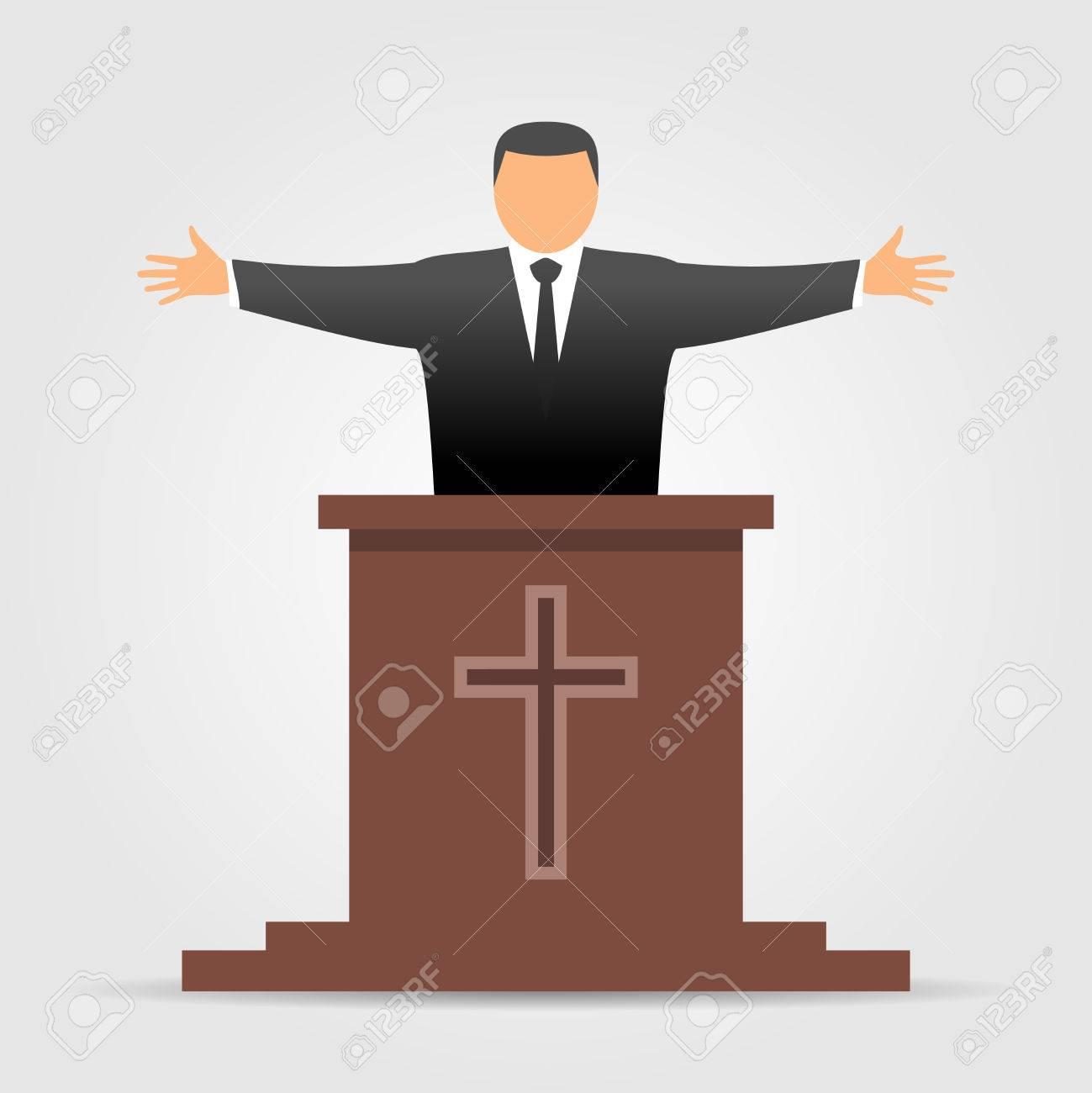 hight resolution of preacher icon stock vector 76960569