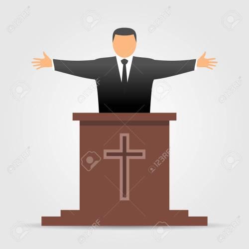 small resolution of preacher icon stock vector 76960569