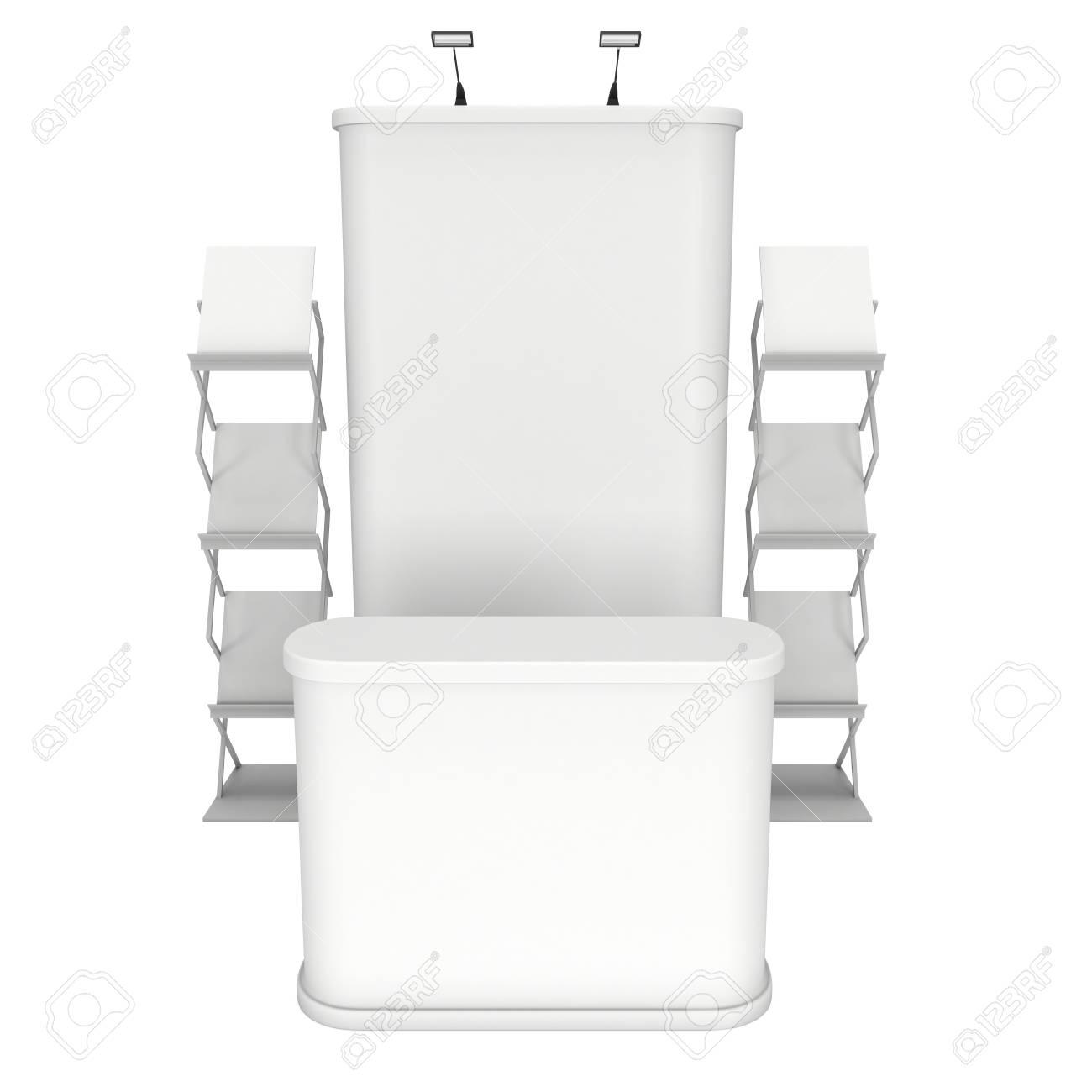 banque d images stand de salon et porte revues pour les magazines blanc et vide rendu 3d isole sur fond blanc haute resolution