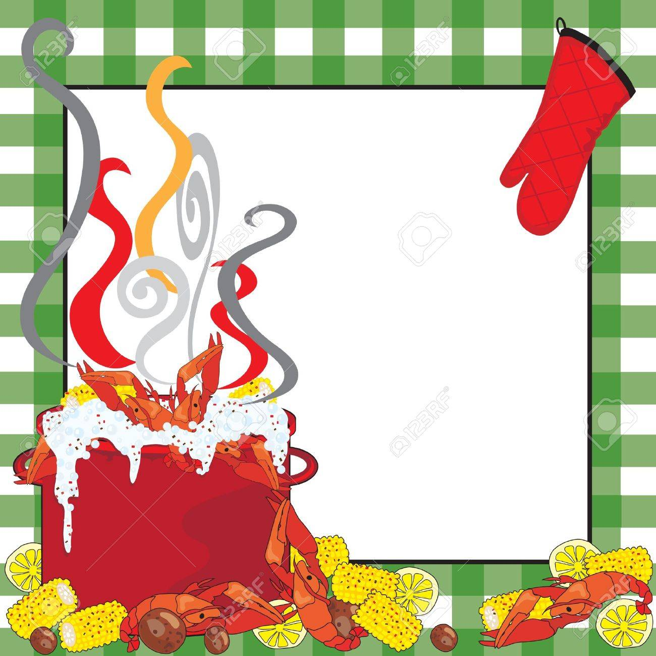 hight resolution of crawfish boil invitation stock vector 9829924
