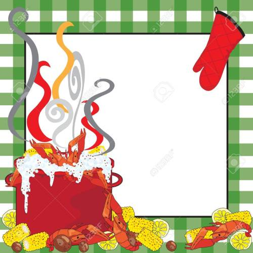 small resolution of crawfish boil invitation stock vector 9829924