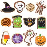 Cute Halloween Cookies Clipart Elements And Icons Royalty Free Cliparts Vectors And Stock Illustration Image 10465484