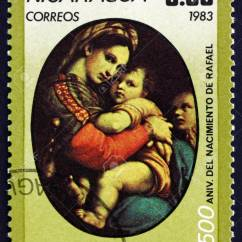 Madonna Of The Chair Hanging Walmart Nicaragua Circa 1983 A Stamp Printed In Shows