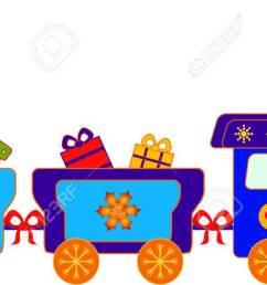 christmas present polar express train vector stock vector 34218567 [ 1300 x 636 Pixel ]
