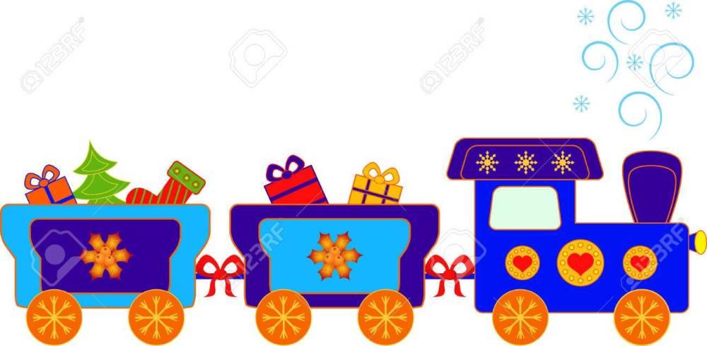 medium resolution of christmas present polar express train vector stock vector 34218567