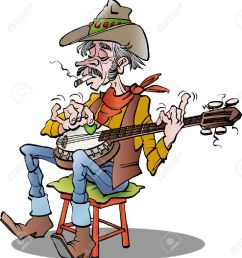 cartoon illustration of a country banjo player stock vector 51308455 [ 1190 x 1300 Pixel ]